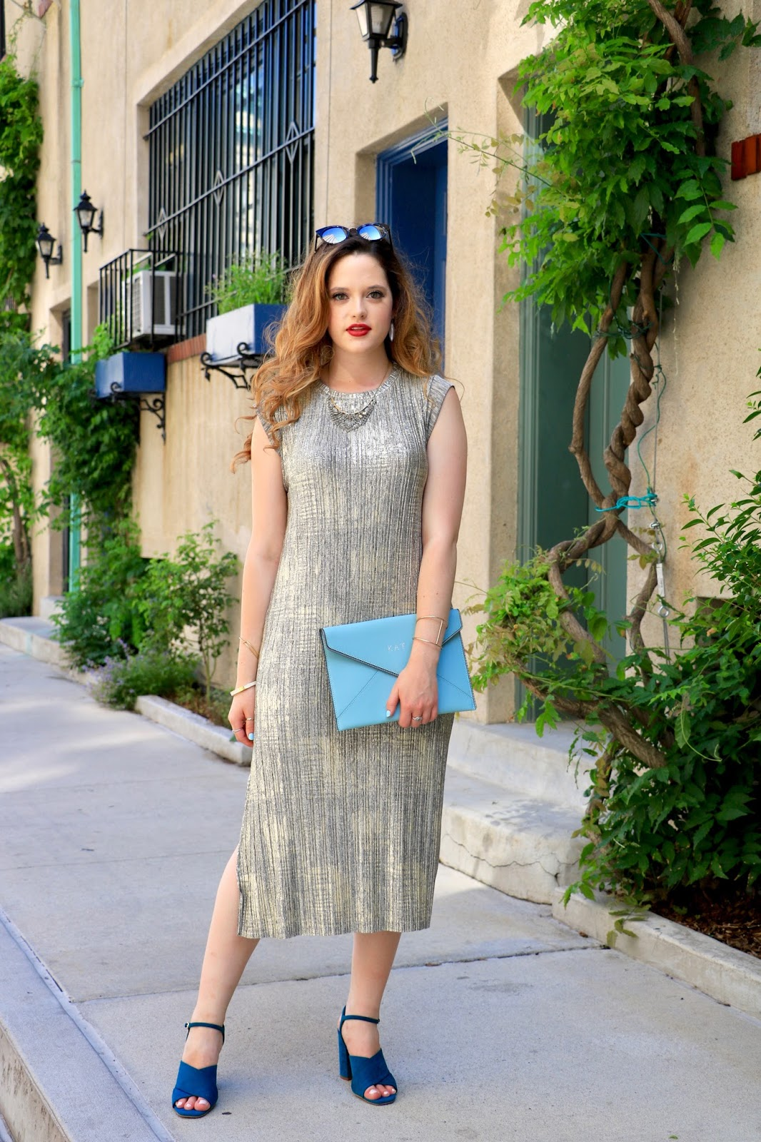 NYC fashion blogger Kathleen Harper wearing a wedding guest dress