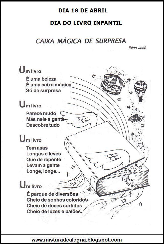 Top DIA DO LIVRO INFANTIL, POESIA E COLORIDO, IMPRIMIR-Mistura de Alegria AM99