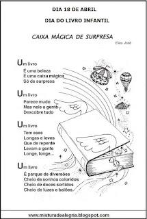 Poema sobre livro caixa mágica surpresa