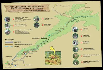 Peta Wisata Curug Omas di kawasan Wisata Dago Pakar
