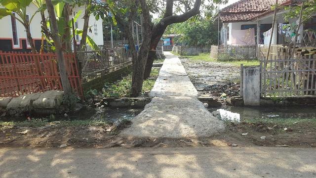 Pembangunan jalan lingkungan dan gang desa muara