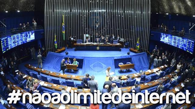 Votação do Senado sobre limitação de internet