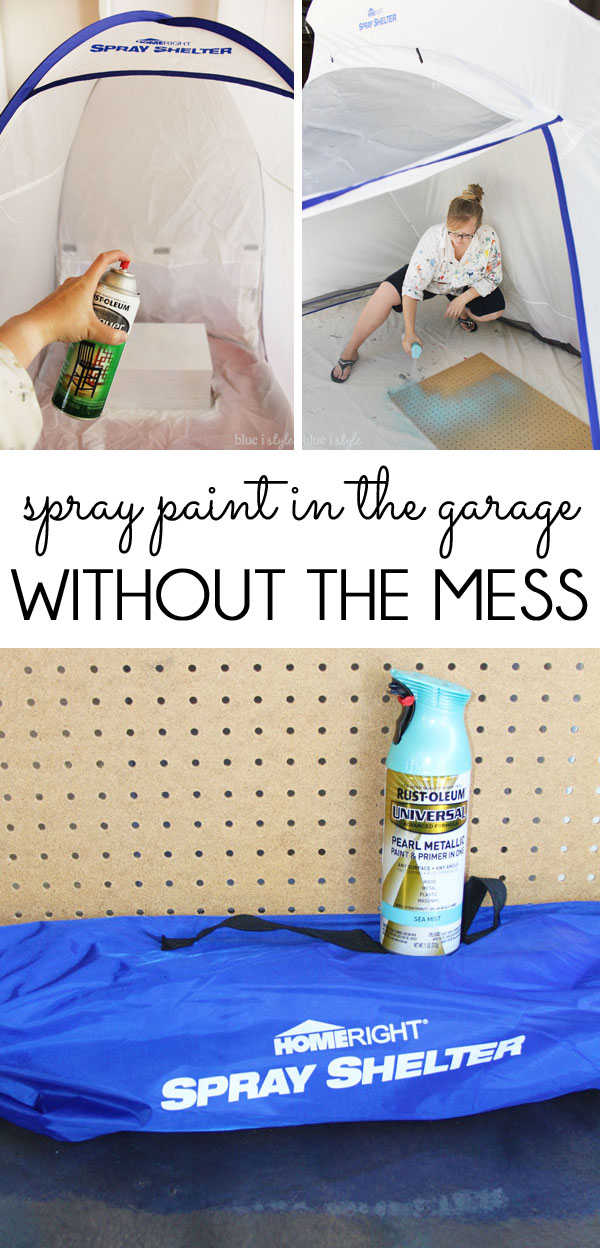 Spray paint in the garage without the mess