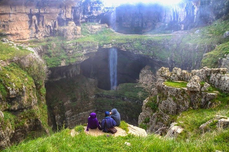 6. The Baatara Gorge Waterfall, Tannourine, Lebanon - Top 10 Incredible Beauties Hidden in the Caves