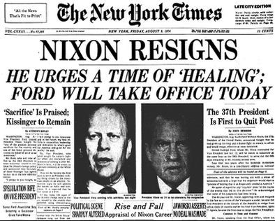 The Day Nixon Resigned I was at a Crosby Stills Nash and Young Concert