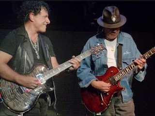 Neal Schon and Carlos Santana Playing Guitar together