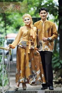 Model baju batik muslim modern elegan
