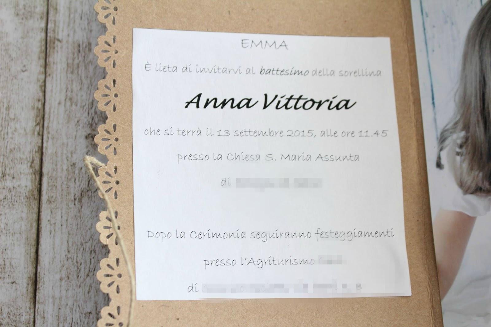 Bien-aimé Il battesimo di Anna Vittoria: tutte le mie creazioni  WL67