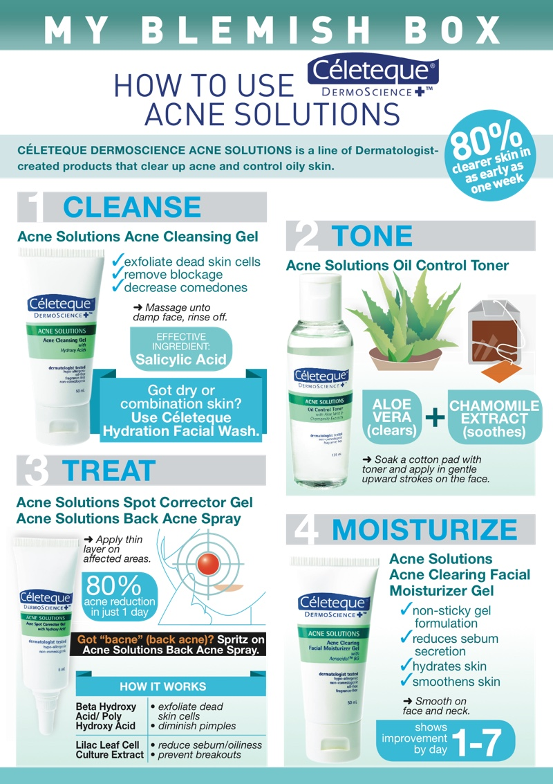 How To Care For Acne With Celeteque Dermoscience Solutions Solution I Just Got An Amazing Package That Contains All The Essentials Fighting Line Are Winning Products