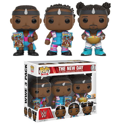 FYE Exclusive WWE Booty O's Edition The New Day POP! Vinyl Figure Box Set by Funko - Big E, Kofi Kingston and Xavier Woods