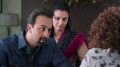 ranbir kapoor and dia mirza image in sanju