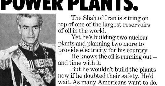 Image result for the shah of iran and nuclear energy