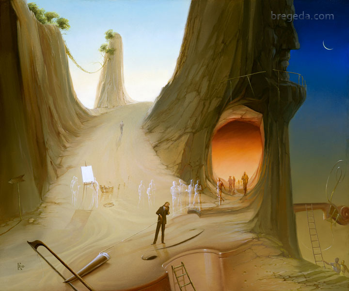 19-Somewhere-in-Time-Victor-Bregeda-Surreal-Paintings-Encapsulating-a-Message-www-designstack-co