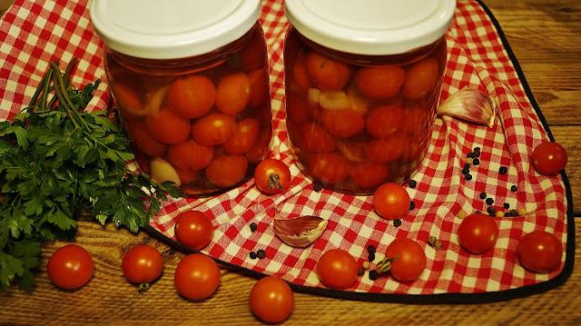 Pomidorki koktajlowe w galaretce