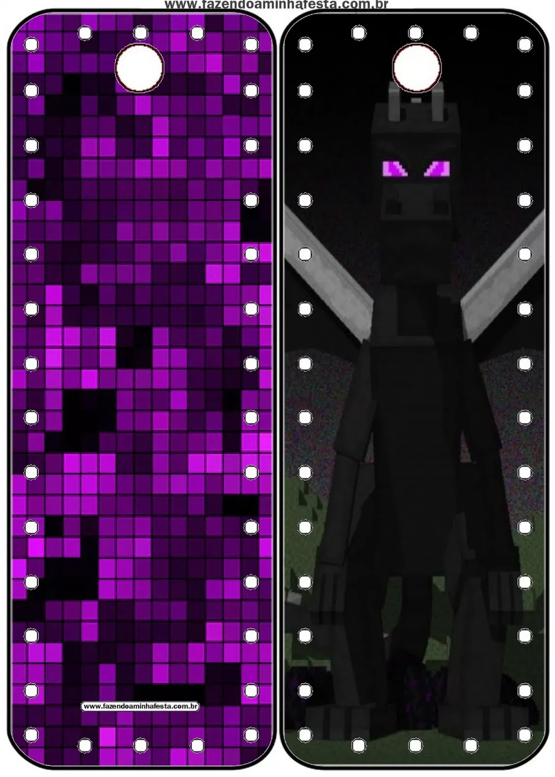 graphic about Minecraft Bookmarks Printable referred to as Pixel Gum 3D, Roblox and Minecraft Cost-free Celebration Printables