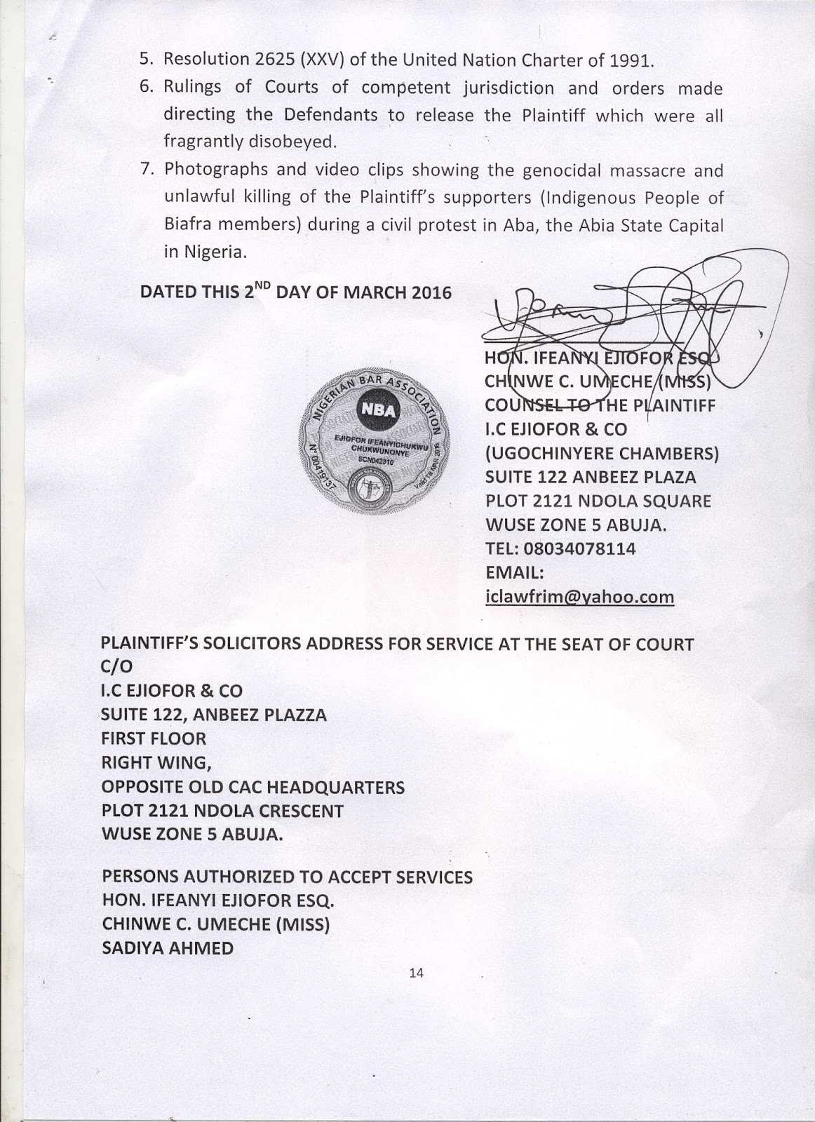 Nnamdi Kanu Drags Nigeria To Ecowas Court, Demands $800 Million Over Illegal Detention 2