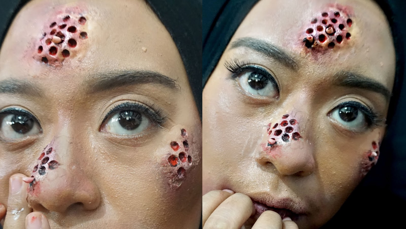 Ini Vindy Yang Ajaib: Trypophobia SFX Makeup Tutorial by