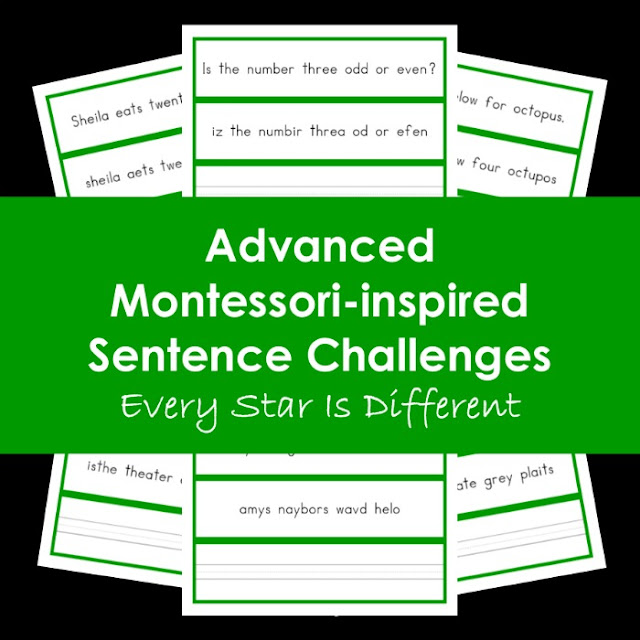 Advanced Montessori-inspired Sentence Challenges
