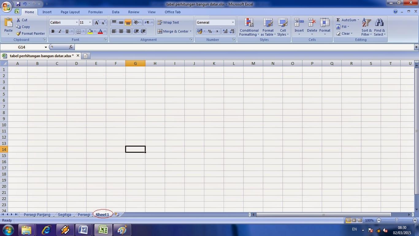 Cara Penggunaan Worksheet Pada Microsoft Excel