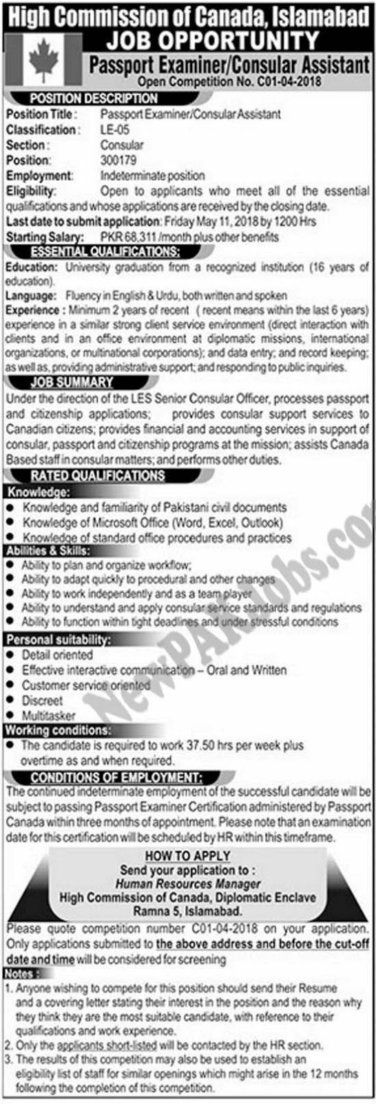 high-commission-of-canada-jobs