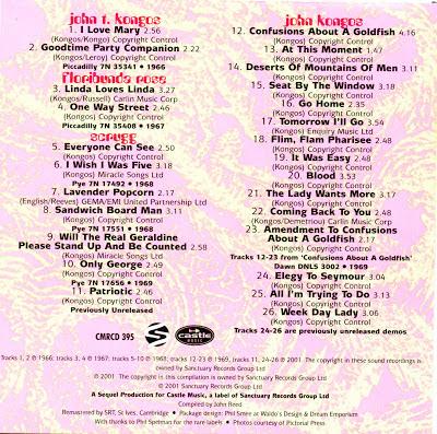 John Kongos Featuring Floribunda Rose & Scrugg - Lavender Popcorn (1966-1969)