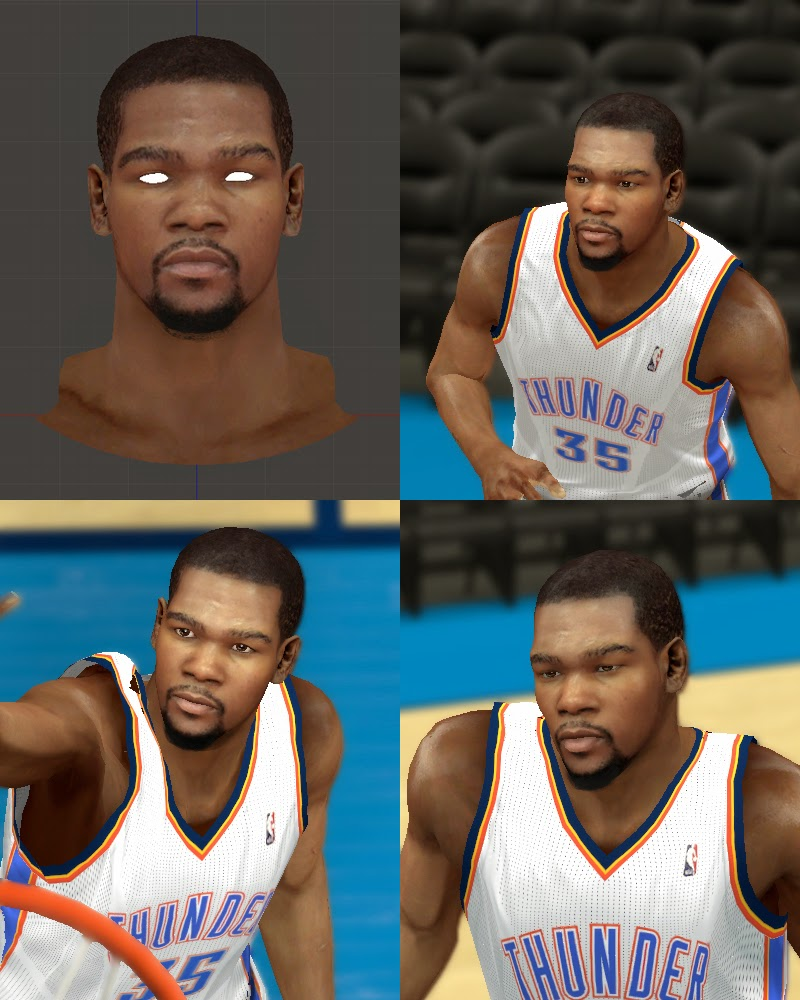 Realistic Kevin Durant Face NBA2K