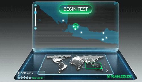 Cara cek kecepatan internet dengan speedtest