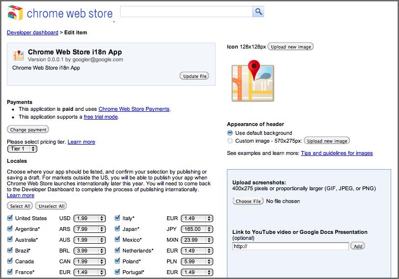 Chromium Blog: Chrome Web Store International Support