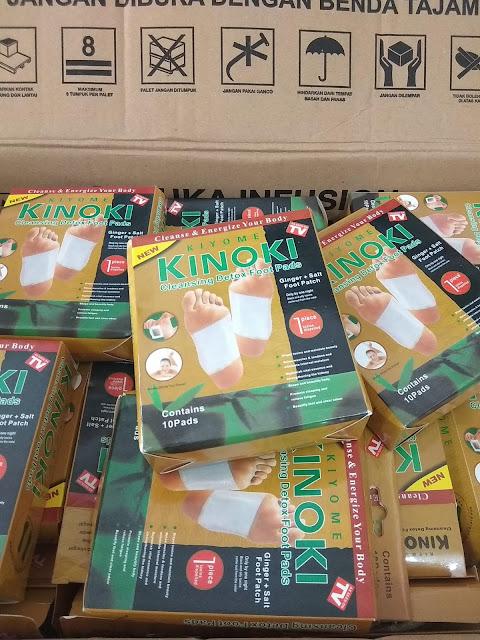 Agen Kiyome Kinoki Gold Cleansing Detox Bamboo Foot Patch Area Padang Sumatera Barat