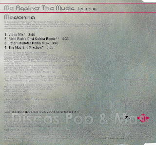 Discos Pop & Mas: Britney Spears - Me Against the Music ...