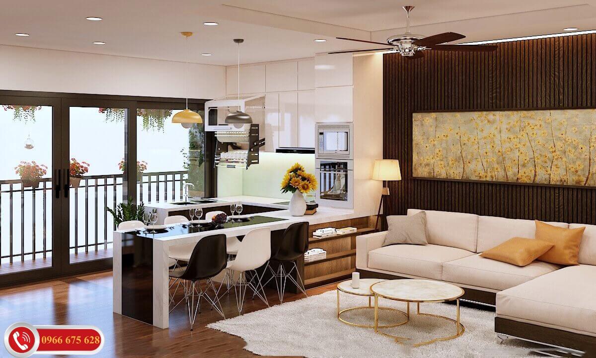 Nội thất căn hộ cao cấp Amber Riverside 622 Minh Khai