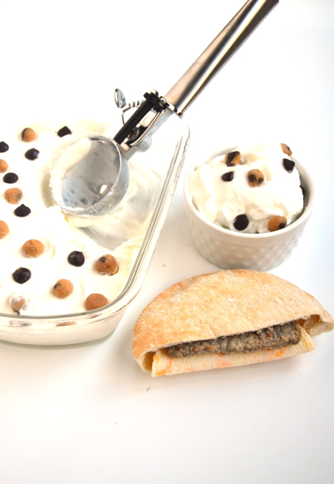 Healthy Chocolate Chip Cookie Dough Ice Cream has only 6 ingredients and is a lighter choice that the whole family will love and is made with a secret ingredient- chickpeas! www.nutritionistreviews.com