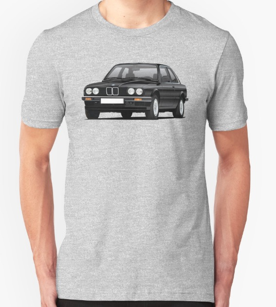 BMW E30 (3 Series) illustration shirts @Redbubble