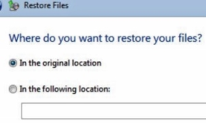how to restore backup files to same computer