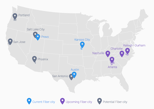 Google Fiber continues to march forward, launching in four new cities