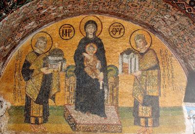 Mosaico de Santa Sofía.