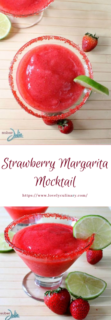 Strawberry Margarita Mocktail #healthy #smoothiedrink