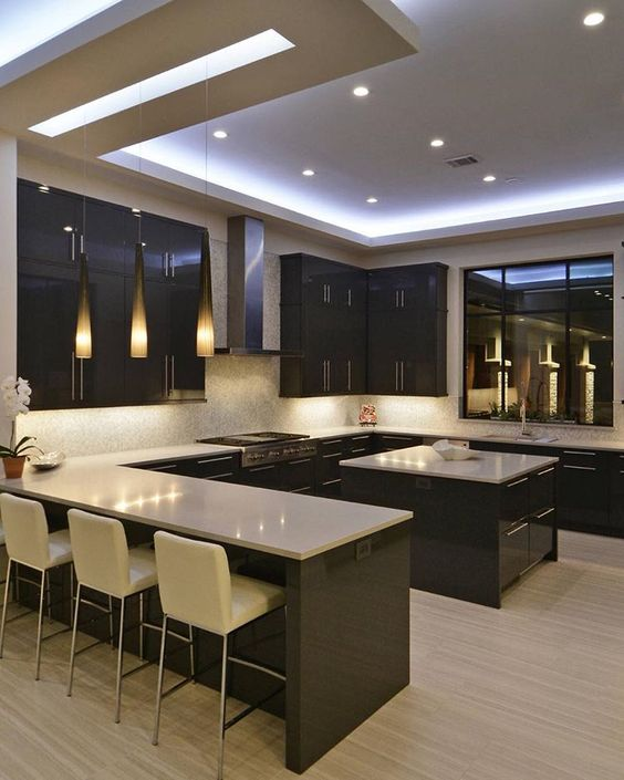 Latest Design For Kitchen: Best 50 Kitchen POP Ceiling Design Ideas 2019