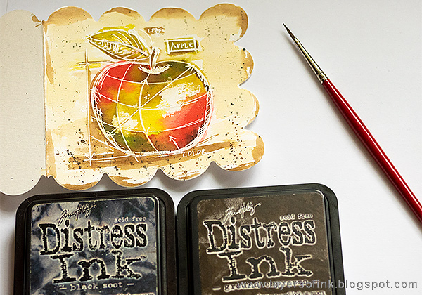 Layers of ink - Blueprint Watercolor Apple Cards Tutorial by Anna-Karin Evaldsson