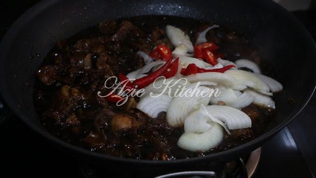 Daging Tetel Masak Black Pepper Yang Sangat Sedap