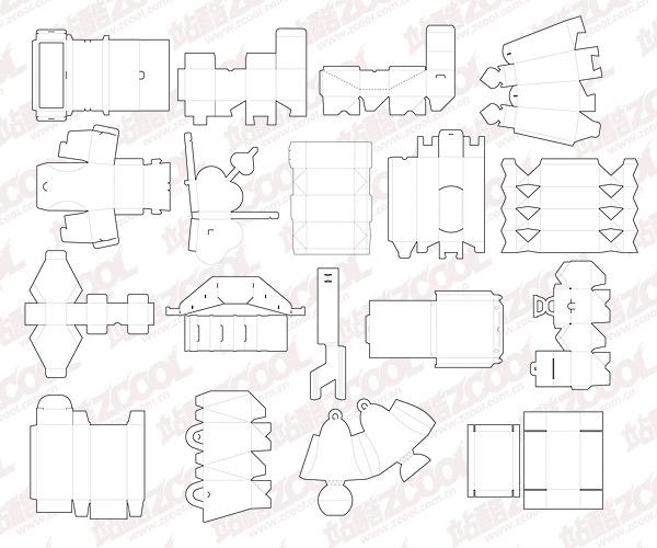 Template Desain Box Kemasan