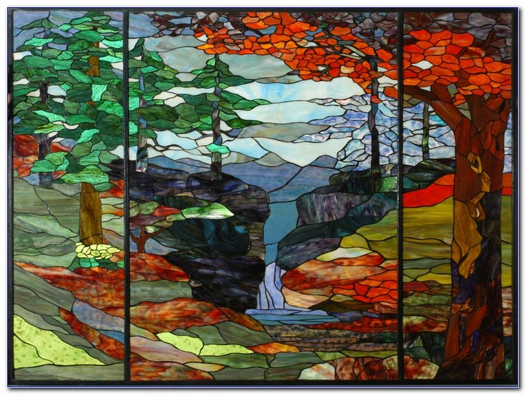 Tree Stained Glass Window Home, Stained Glass Trees Images