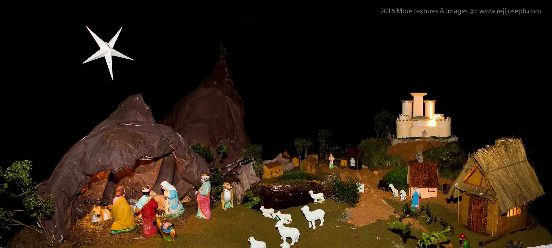 Christmas crib Pulkoodu Little flower church elamkulam 00001