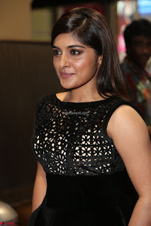 Niveda Thomas Black Sleeveless Cute Dress at 64th Jio Filmfare Awards South 2017 ~  Exclusive 077.JPG