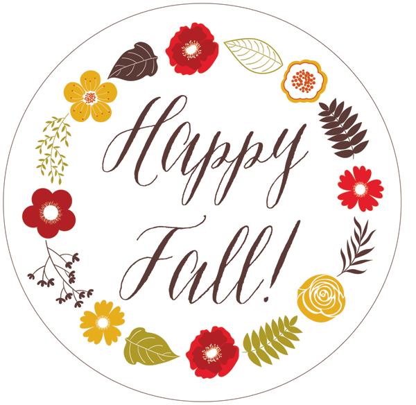Happy Fall Free Printable Gift Tag