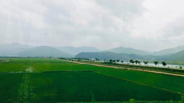 corée du sud landscape countryside mountains asia 대한미국 구미시