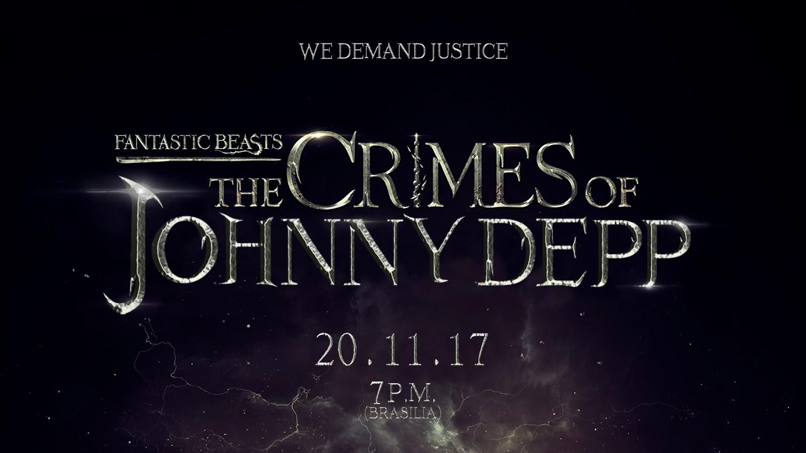 Fãs brasileiros levantarão hashtag no Twitter amanhã contra Johnny Depp.