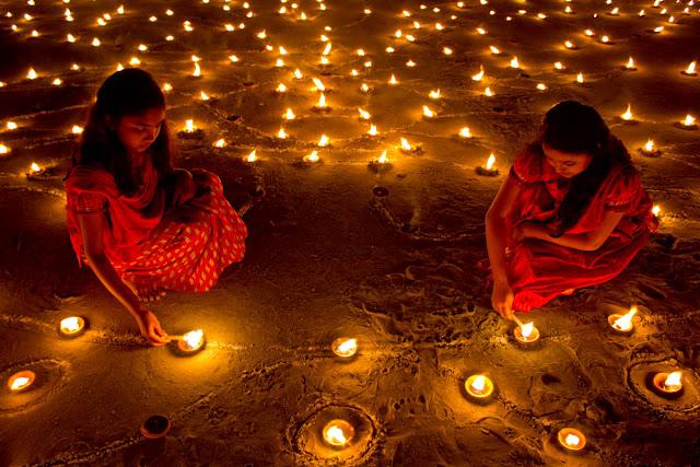 Image result for diwali village