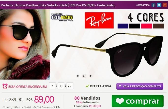 b44022e2a2e44 Rayban Erika Veludo