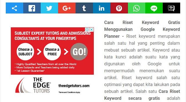 Cara Memasang Iklan Adsense di Atas, Tengah dan Bawah Artikel yang Berpotensi Klik